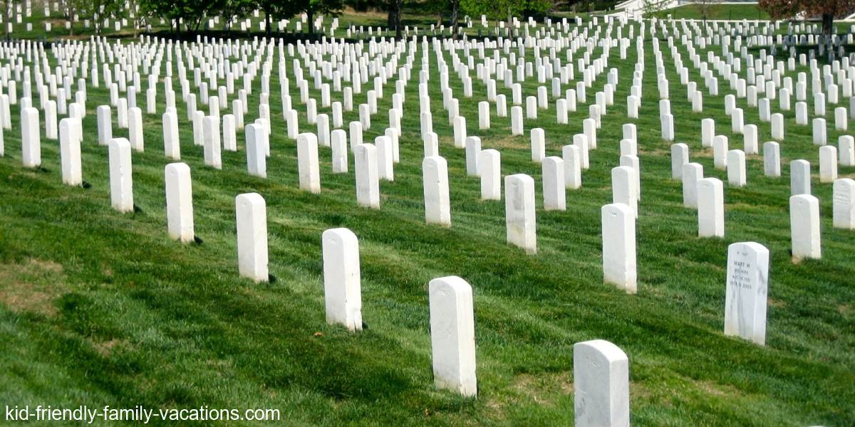 arlington national cemetery washington dc for kids