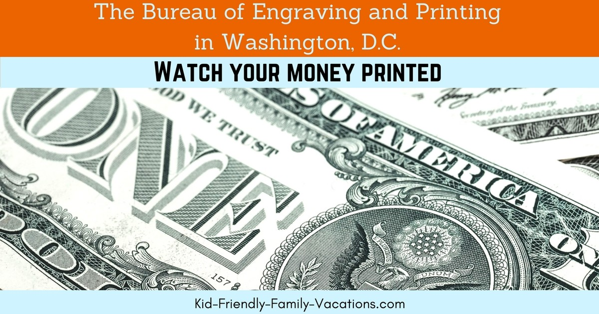 At the Bureau of Engraving and Printing in Washington DC you will see american currency being printed and learn some history of the currency.