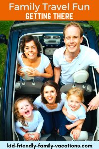 Family Travel Fun - when traveling with children, getting there can be a battle. Get some tips for family car, train, and airline travel