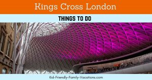 Kings Cross London - a little history and movie fun. Harry Potter fans will love a photo op at the trolley entering Platform 9 3/4