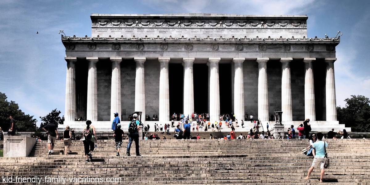 lincoln memorial steps washington dc for kids