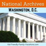 The National Archives Washington DC stores and displays many douments and military records of importance to United States history.