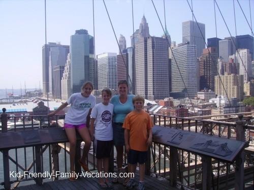 new york city travel with kids brooklyn bridge