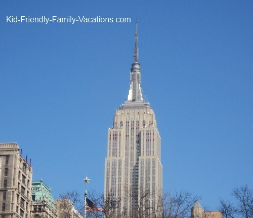 new york city travel with kids empire state building