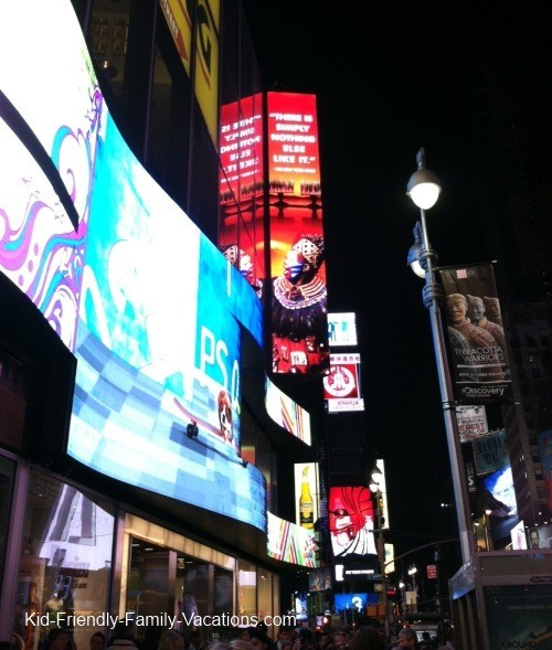 new york city travel with kids times square