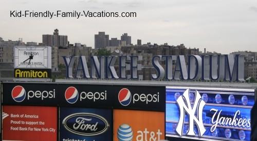 new york city travel with kids yankee stadium