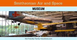 Visit the Smithsonian Air and Space Museum while in Washington DC to see major aircraft and space craft as well as an astronaut suit