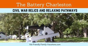 The Battery Charleston and White Point Gardens is a living monument the to the civil war with the relics surrounding the perimeter.