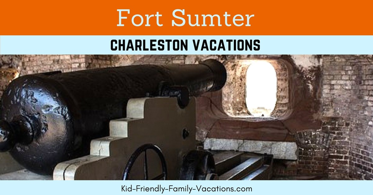 Fort Sumter in Charleston SC is right off the coast of The Pennisula of Charleston in teh harbour. It is a piece of US history!