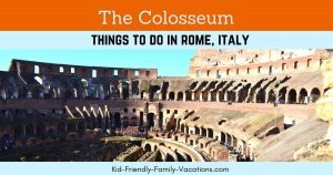 The colosseum in Rome Itlay speaks of history of a time very long gone. Visit to see the aquaducts and the construction, and have a fun photo made.