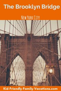 The Brooklyn Bridge is one of the first bridge to use steel-wire suspension. It connects New York City with Brooklyn and is an icon in the Big Apple.