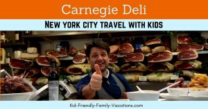 The Carnegie Deli New York is a NYC Institution. Located close to Times Square, the deli has some of the best New York Cheesecake around.