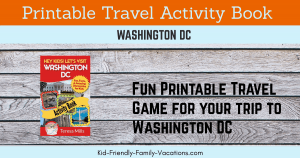 washington dc printable activity book