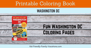 Washington dc coloring book for kids