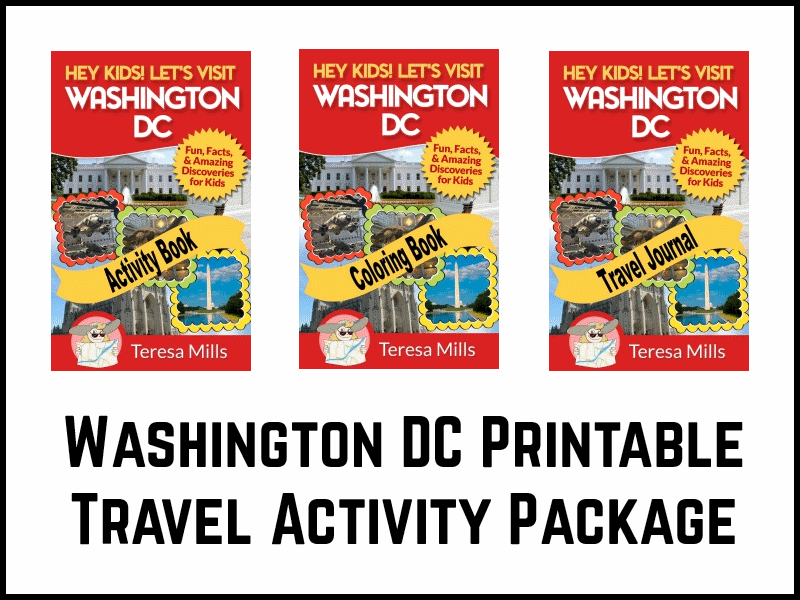 washington printable travel activity package