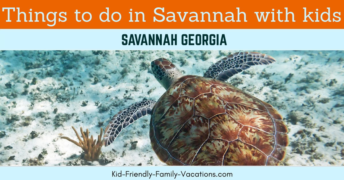 things to do in savannah with kids
